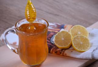 cea natural din miere, ghimbir si lamaie. Mod de preparare