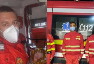 Fetiță născută la Nădlac în autospeciala SMURD, cu cordonul ombilical în jurul gâtului, salvată de pompier