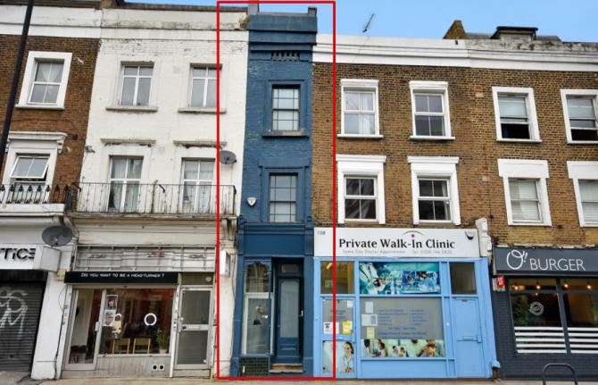 Cea mai îngustă casă din Londra scoasă la vânzare