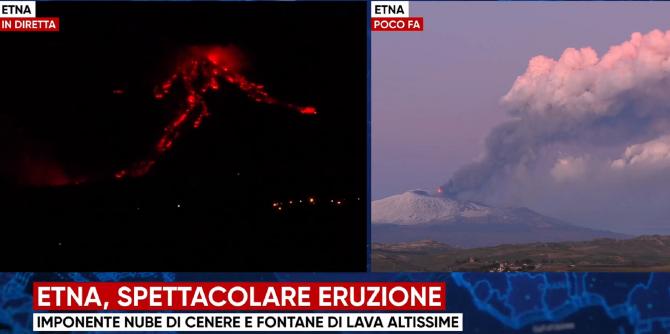 Italia. Vulcanul Etna erupe! Zborurile din Catania, suspendate