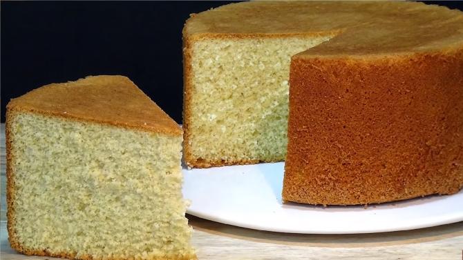 Prăjitura genoveză, preparatul din trei ingrediente, fără drojdie