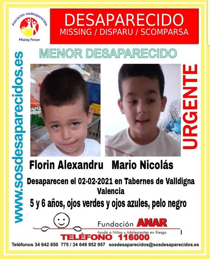 Spania. Cei doi frățiori români dați dispăruți au fost găsiți. Florin și Mario nu au mai fost văzuți de o săptămână