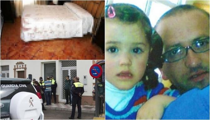 """Spania. Român, suspect în """"cazul blestemat"""" Tatăl înjunghiat de 151 ori, iar fetița lui Maria de 104 ori. Concluziile anchetatorilor"""