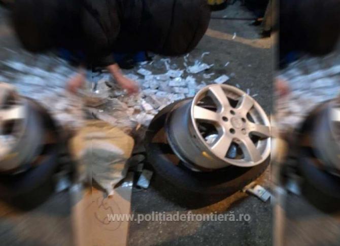 tigari ascunse in pneurile automobilului