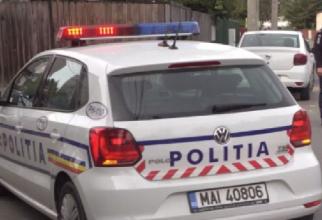 roman injunghiat masina politiei