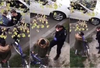 """Românii, revoltați după un clip viral în care un jandarm lovește cu brutalitate un copil """"Jigodie! Ce ți-a făcut, cretinule"""""""