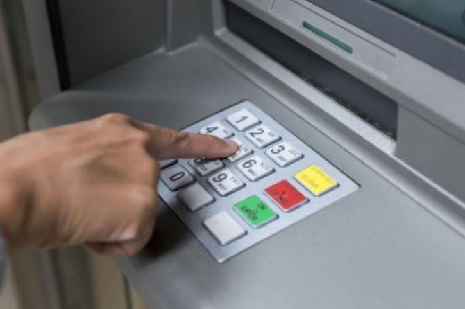 bancomat furat din banca