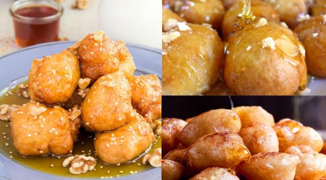 Loukoumades, gogosi dulci cu aromă de scortisoara