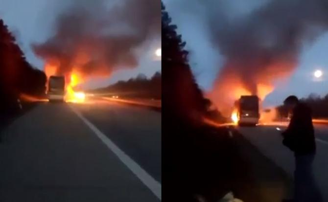 microbuz din moldova a ars in germania pe autostarada
