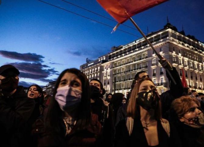 proteste atena grecia