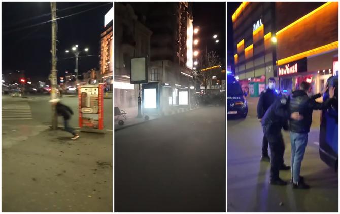 Violențe între jandarmi și protestatari la protestul de aseară