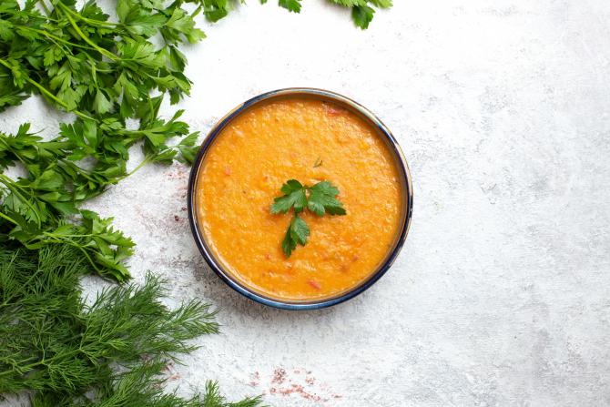 Supă cremoasă de fasole