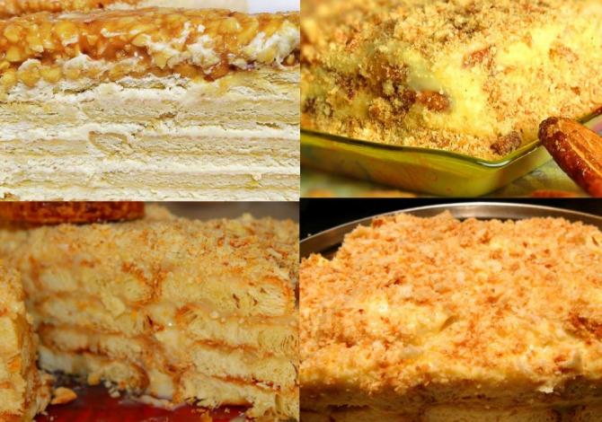 Tort de biscuiti cu crema de caramel