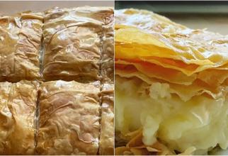 Galaktoboureko, plăcintă grecească cu lapte și griș. O combinație divină, cremoasă pe interior și crocantă la exterior