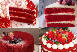 Tort Catifea rosie