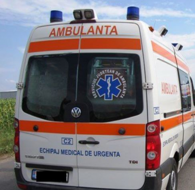 accident rutier ambulanta