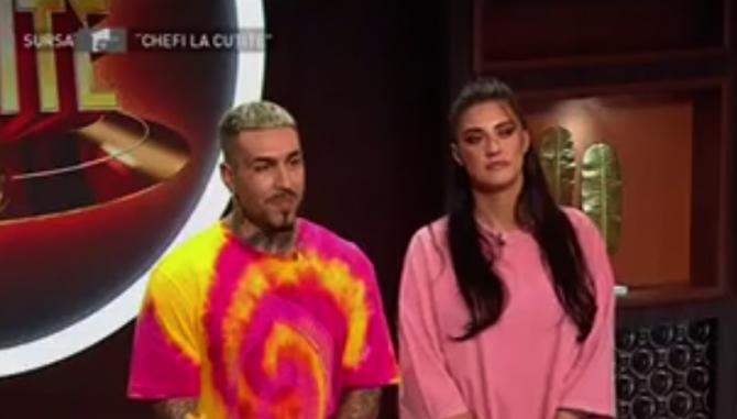 """Antonia si Alex Velea la """"Chef la cuţite"""" - captura video"""
