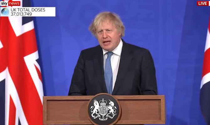 Boris Johnson a anunţat un plan de relaxare a restricţiilor antiepidemice