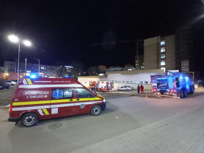Incendiu la Spitalului Județean de Urgență Bacău