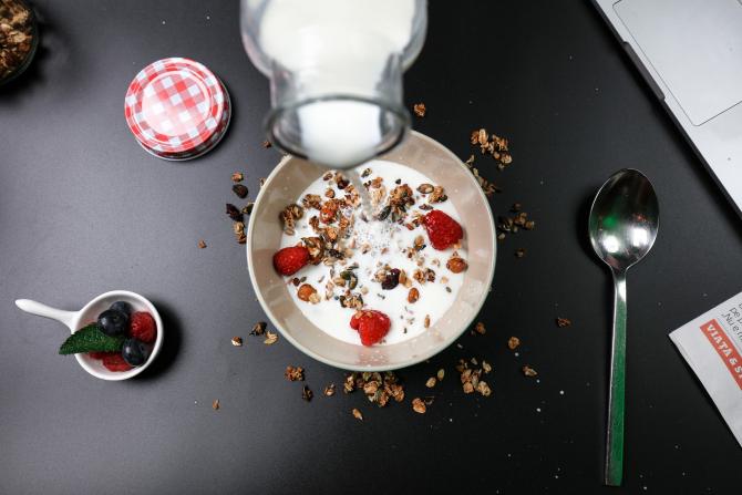 Lapte de susan - Mic Dejun (sursa foto: Pixabay)