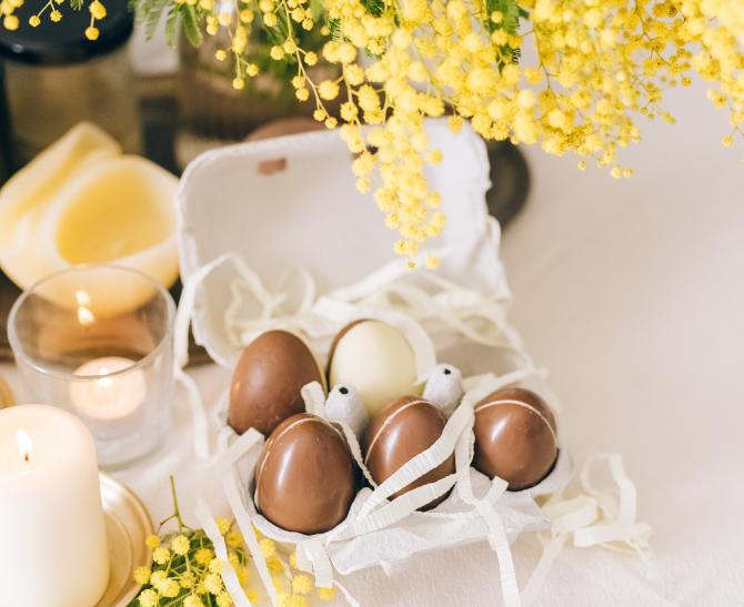 Ouă ciocolată (sursa foto: Pexels)