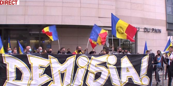"""Protest în fața Ministerului Sănătății. George Simion: """"Vrem demisia lui Vlad Voiculescu, nu o să cedăm"""""""