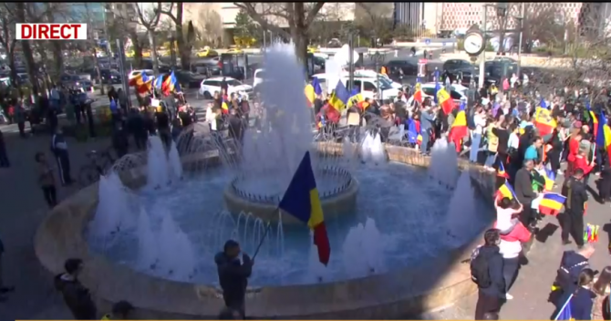Protest împotriva restricțiilor în București - 10 aprilie