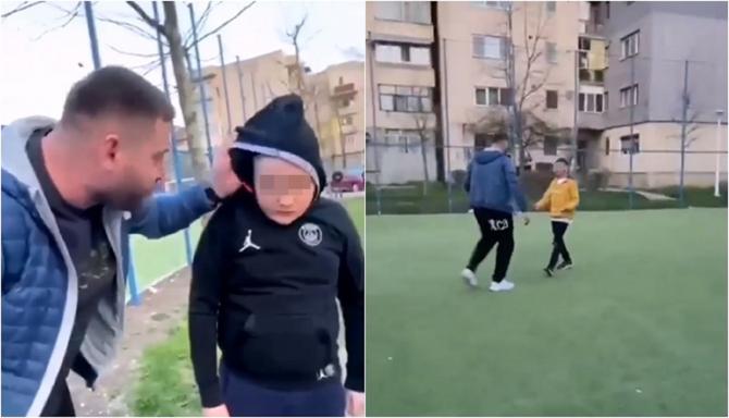 Român, filmat în timp ce agresează mai mulți copii, în curtea școlii. Scene revoltătoare (VIDEO)