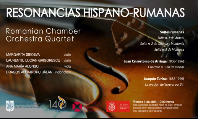 Romanii din Madrid invitati de Ambasada Romaniei in Spania la concert