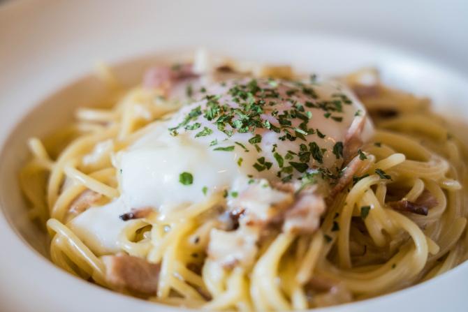 Spaghete carbonara de post - Rețeta genială