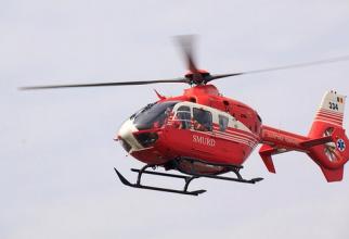 Minoră, preluată cu elicopterul SMURD. Accident grav în județul Vaslui