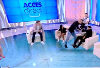 """Rafaelo, luat la bătaie, în toiul emisiei, la """"Acces Direct"""". Mirela Vaida, în stare de șoc: """"Plec eu! Nu vin aici să văd violență, bolovani!"""""""