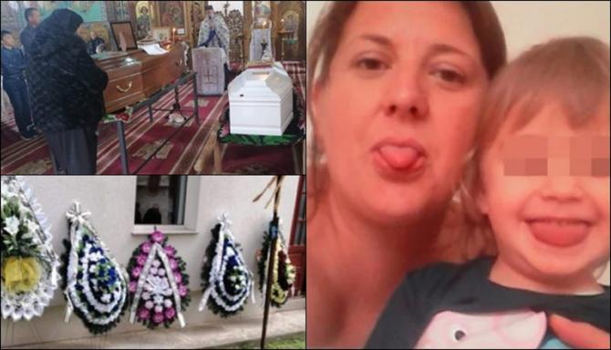 Badanta româncă și copilul ei de 6 ani, găsiți morți în Italia, înmormântați după jumătate de an în cimitirul din satul natal