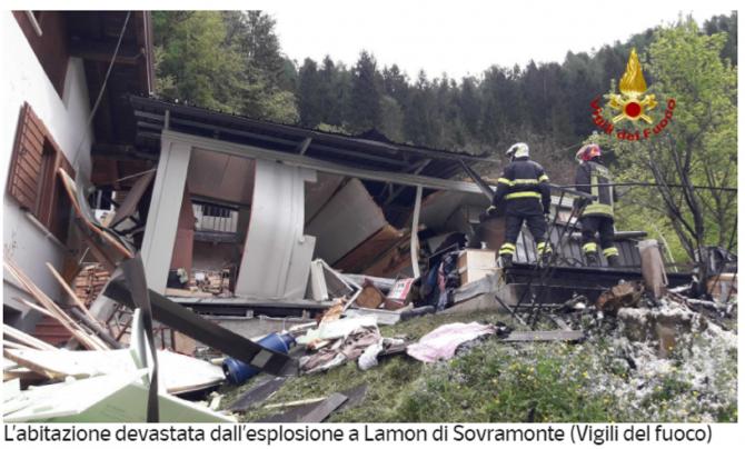 Explozie devastatoare, în Italia. Victime: o badantă româncă și pensionara pe care o îngrijea. Femeia voia să facă o cafea
