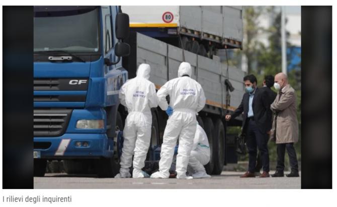 Italia. Rezultatul autopsie șoferului român, mort în cabină: Cornel ar fi încercat să se salveze, însă și-a tăiat jugulara