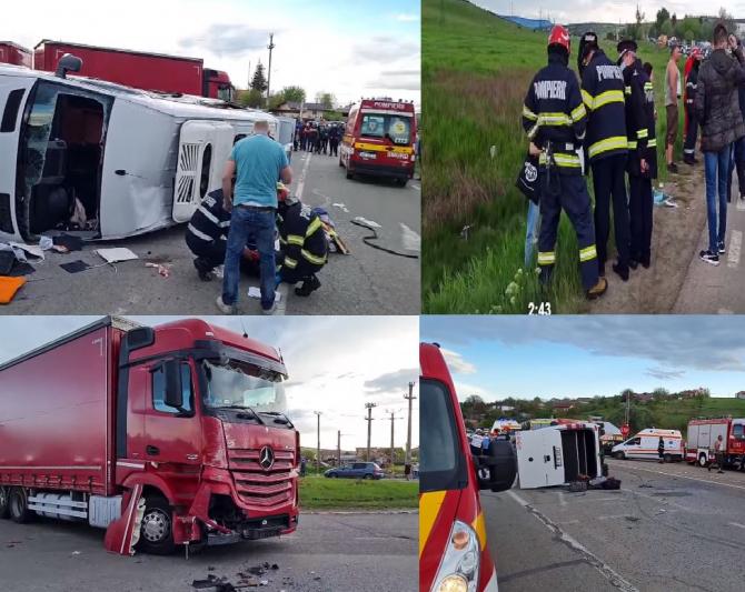 Șoferul TIR-ului, care a lovit un microbuz la Iași, venea din Italia. Bărbatul, la un pas să provoace o tragedie sursa ziaruldeiasi