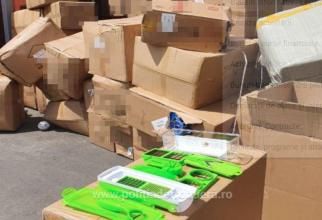 Bunuri contrafăcute în valoare de peste un milion de lei, depistate în Portul Constanța