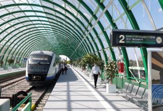 Statia de tren de la Aeroportul Henri Conda (Sursa: CFR)