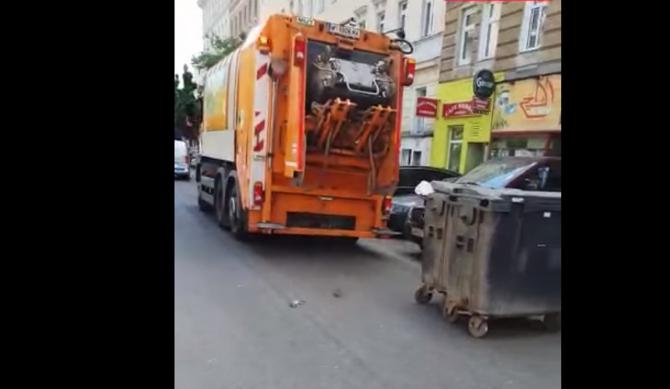 """Austria. Zeci de șobolani sar dintr-o mașină de gunoi și fug pe o stradă în Viena: """"Ești prost? Nu am văzut așa ceva"""" - VIDEO VIRAL"""