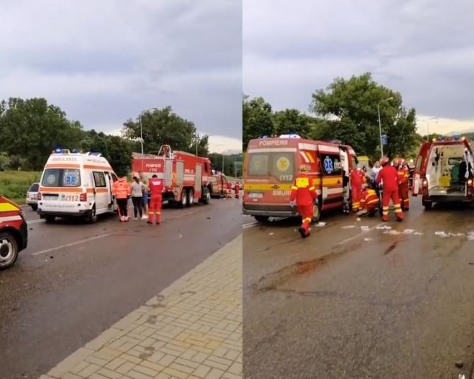 Accident rutier grav, cu cinci mașini, la intrare în municipiul Botoșani. Nouă victime, la spital Sursa StiriBotosan