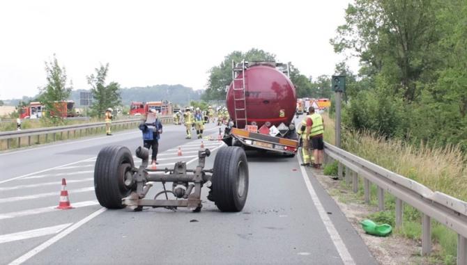 Clipe de groază pentru un șofer român din Germania (Sursa foto - presseportal.de)