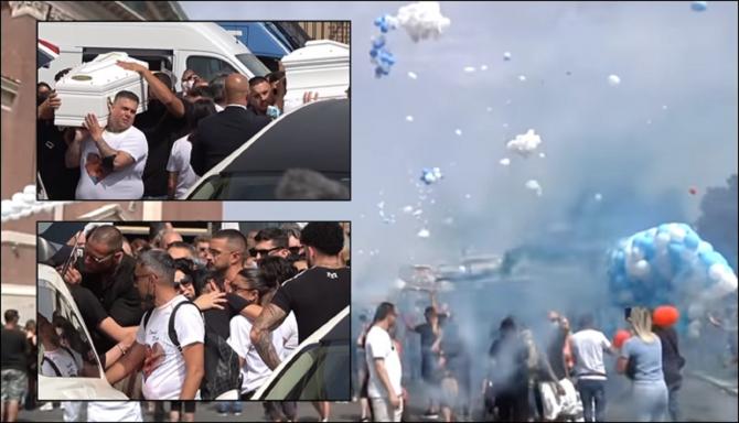 Italia. Daniel și David, frățiorii uciși în parc, au fost înmormântați Lacrimi, durere, aplauze, baloane și porumbei - VIDEO