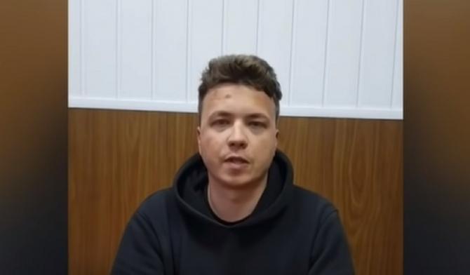"""Jurnalistul Roman Protasevici, un nou interviu pentru televiziunea de stat din Belarus: """"L-au bătut şi l-au forţat să spună ce este necesar"""""""