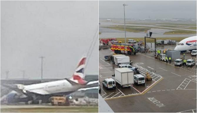 Marea Britanie. Un avion s-a prăbușit pe un aeroport din Londra - VIDEO