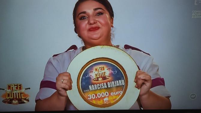 Narcisa Birjaru, marea câștigătoare a finalei Chefi la Cuțite