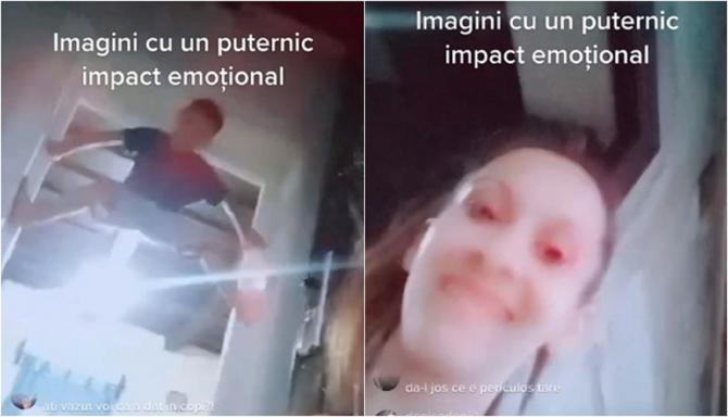 O româncă și-a bătut crunt copilul, live pe Facebook