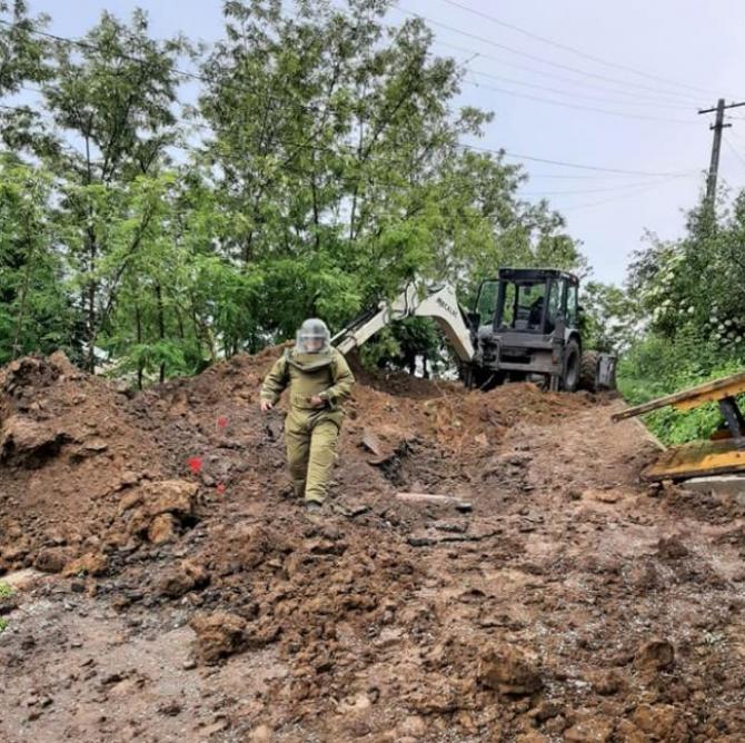Patru bombe în perfectă stare de funcționare, descoperite într-o comună din județul Botoșani
