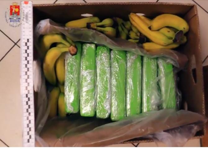 Polonia. Cocaină, ascunsă în cutii de banane cu destinația Carrefour