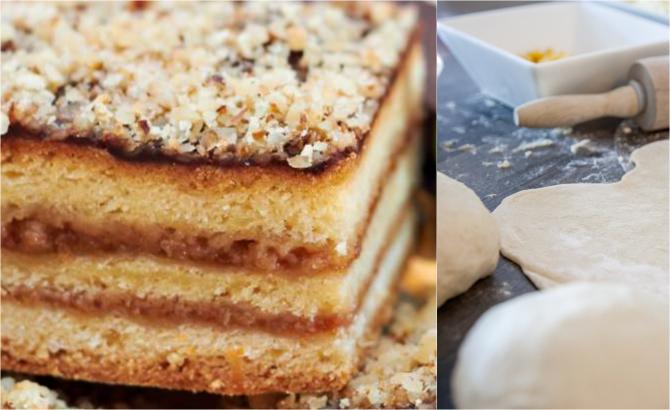 Prăjitură cu gem - Rețeta rapidă și ieftină care nu lipsește din caietul mamelor noastre