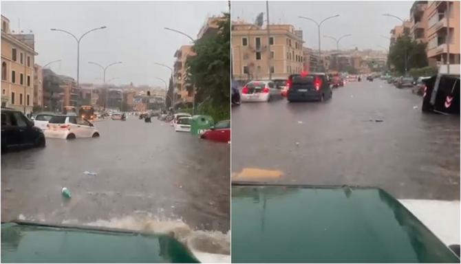 Roma este sub ape. Imagini terifiante din capitala Italiei - VIDEO